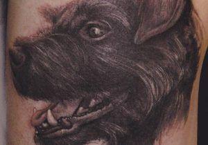 profile of dog tattoo